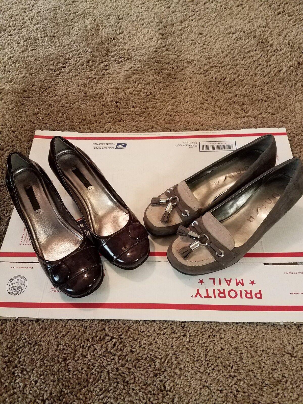 Women ecco heels, unisa wedges size 7. 2pairs