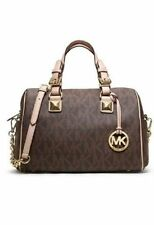 NWOT   MICHAEL Michael Kors Grayson Monogram Medium Satchel  Brown $ 348.00