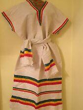 Ethiopian Traditional Dress  with Rasta colour