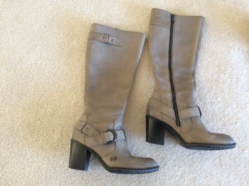 Reasonable Boc Gray Taupe 6 1/2 Boots Pre Owned