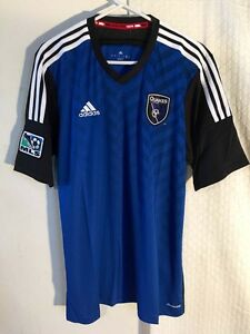 info for 05a51 6f898 Details about Adidas Authentic MLS Jersey San Jose Earthquakes Team Blue sz  XL