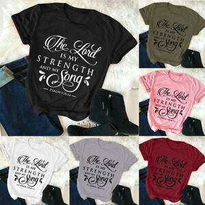 Women-T-shirt-Fashion-Christian-Casual-Tops-Plus-Size-funny-Tee-Letter-printing