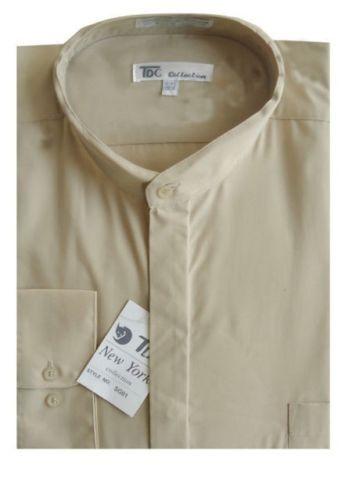Chemise habillée par Fotino Landi style SG01 Homme/'S Col Mandarin Bandes Col