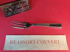 Fork-Cake-16-3-cm-Navarre-Ravinet-D-Enfert-Beautiful-Condition-Metal-Silver