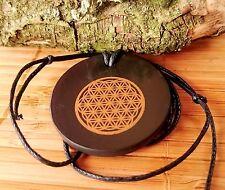 SHUNGITE Metatrons Flower Seed of Life Amulet Talisman Magick Sacred Geometry UK