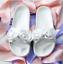 Puma Rihanna puma 4 02 Bow 365774 Fenty Women Slide Silver Marshmallow Size Uk rrwTqx