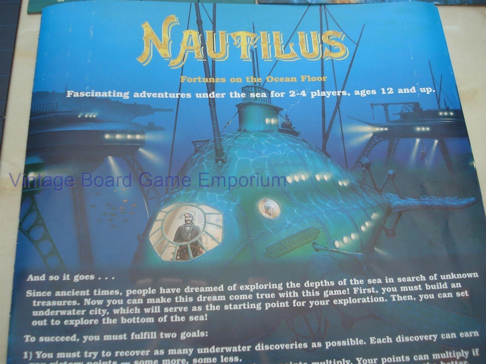 NAUTILUS GAME - NAUTILUS - 100% - UNDERWATER ADVENTURE ADVENTURE ADVENTURE - EXCELLENT ORDER - RARE 44624a
