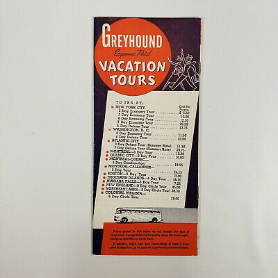 1937 Greyhound Bus Travel Brochure Expenses Paid Vacation Tours Vintage Ebay