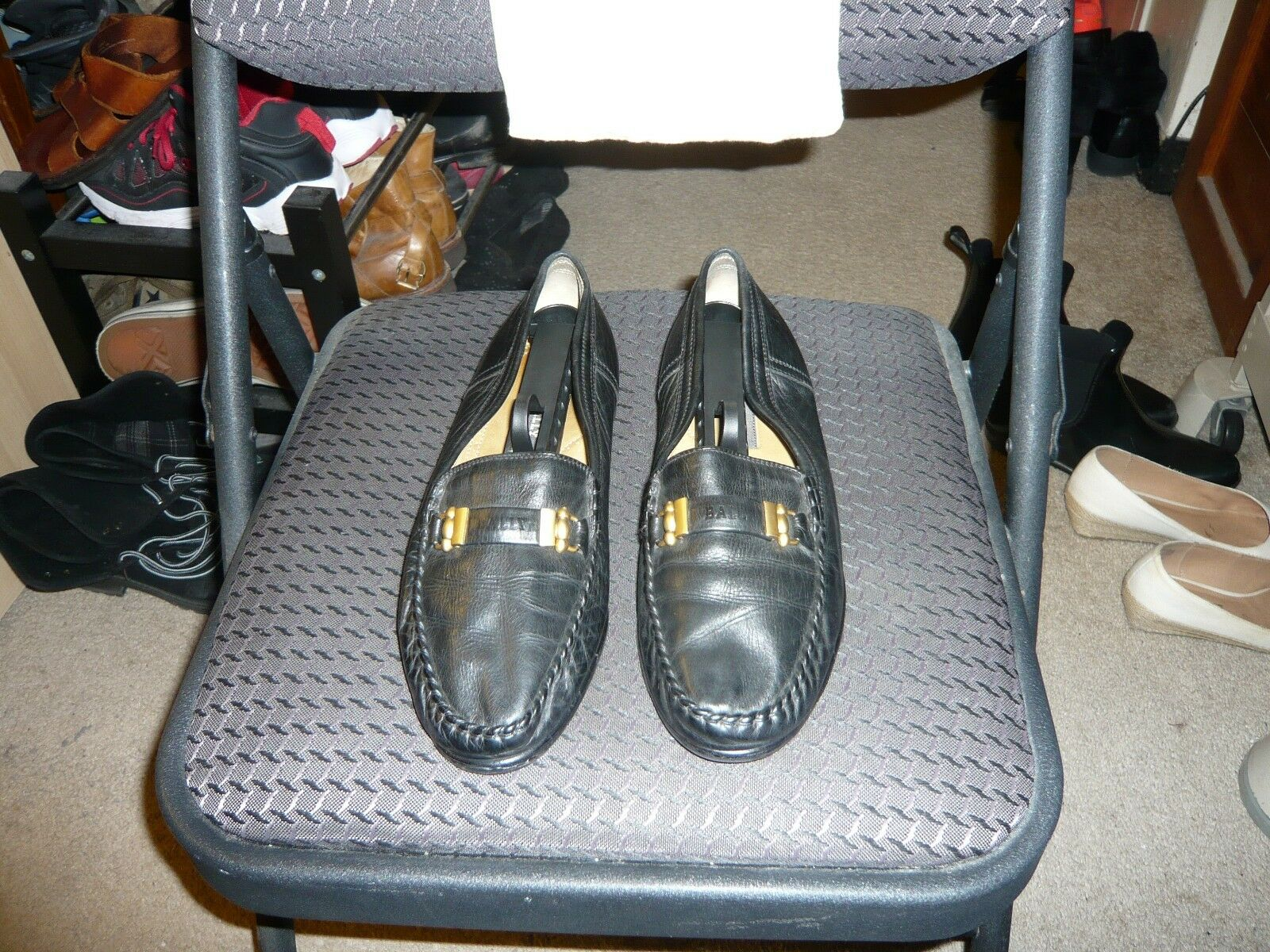 Bally of Switzerland Black Calf Leather Moccasin, Size IT 7, US 8 M W/Dust Bag