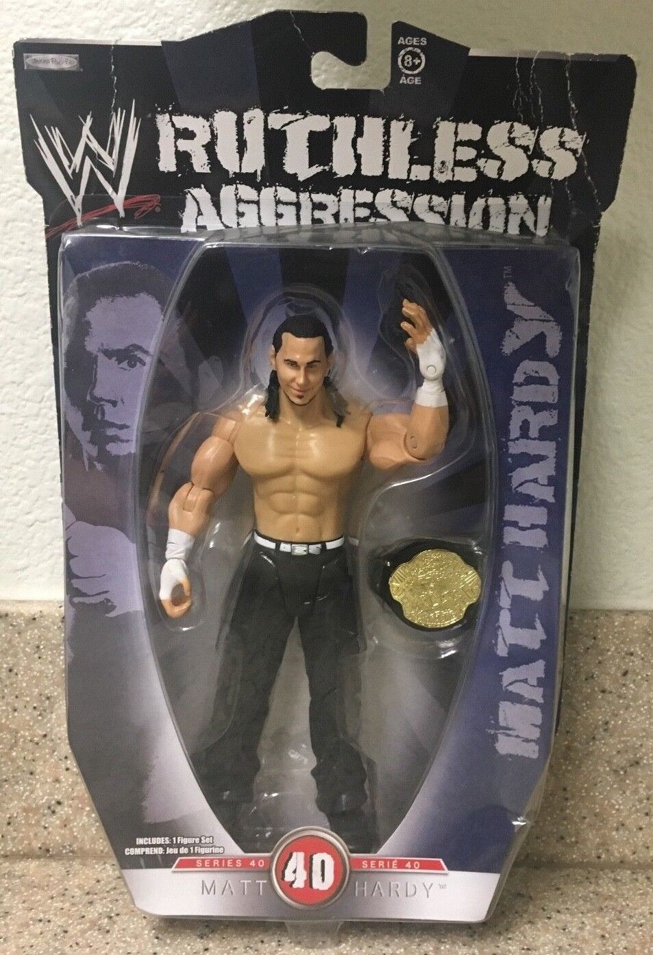 World Champion Title Matt Hardy WWE Ruthless Aggression Series 40 Action Figure