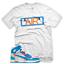 New-034-AIR-034-T-Shirt-for-Nike-Jordan-UNC-BLUE-OFF-WHITE miniature 1