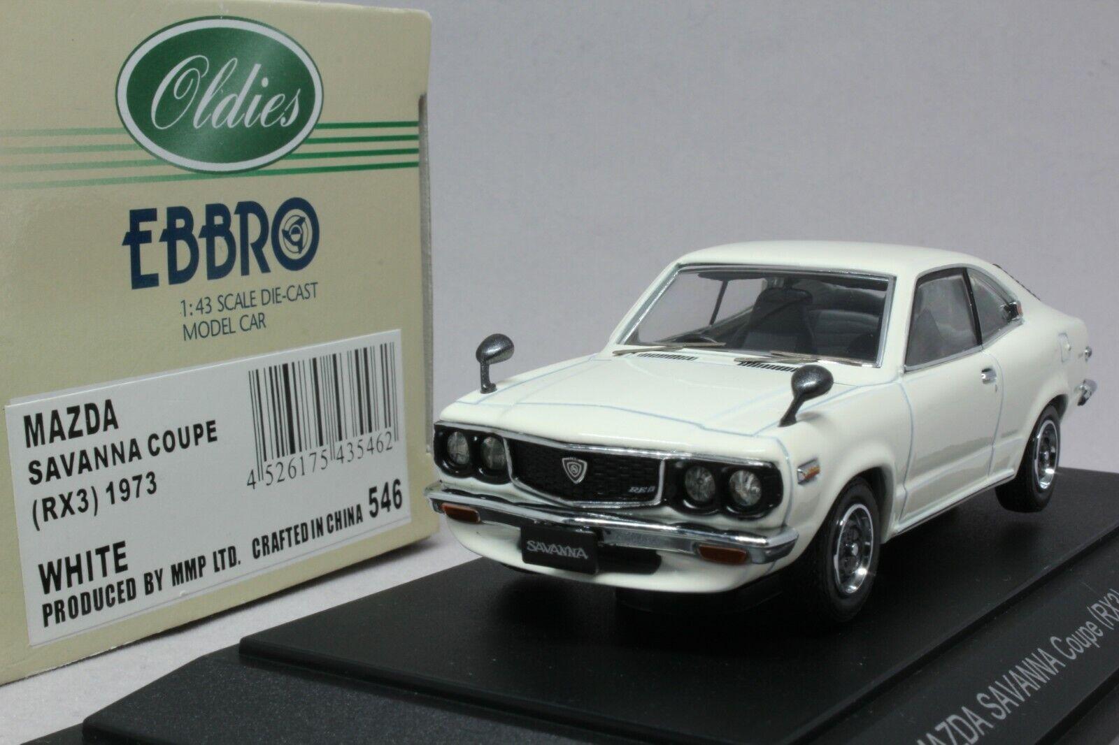 9224 EBBRO 1 43 MAZDA SAVANNA Coupe RX-3 RX3 blanc Comme neuf in box numéro de suivi