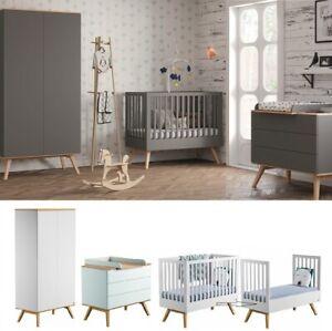 Babyzimmer Kinderzimmer Komplett Nils Weiss Grau Schrank
