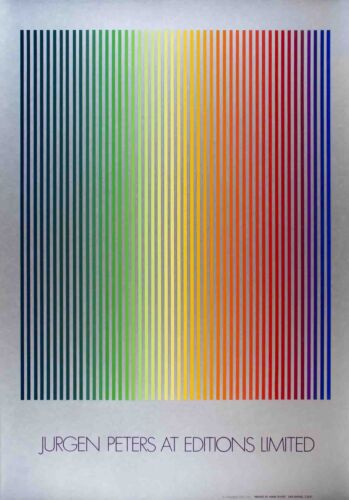 "JURGEN PETERS Illumination 40/"" x 28/"" Serigraph 1980 Multicolor"