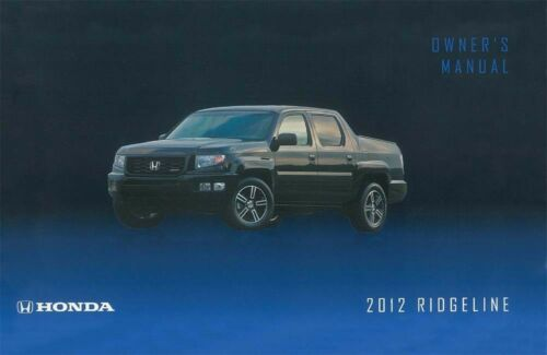 2012 Honda Ridgeline Owners Manual User Guide Reference Operator Book Fuses