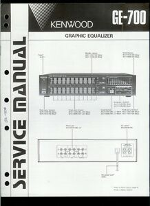 orig factory kenwood ge 700 graphic equalizer service repair manual rh ebay co uk Audio Equalizer Stereo Equalizer Settings