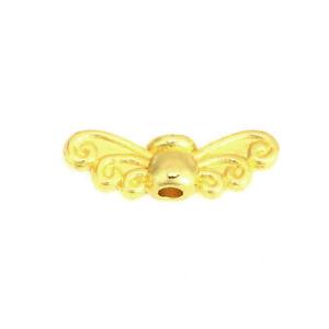Zinklegierung-Perlen-Fluegel-Vergoldet-Geschnitzte-Muster-ca-280-Stueck