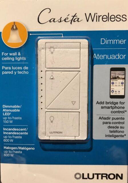 Lutron Caseta Wireless 150-Watt Single Pole Wall Dimmer - White - PD-6WCL-WH-R