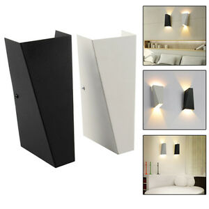 Image Is Loading 10w Modern Led Wall Light Up Down Cube
