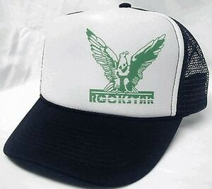 7bb0e24b2e7 Image is loading Rockstar-left-side-Trucker-Hat-mesh-hat-snapback-