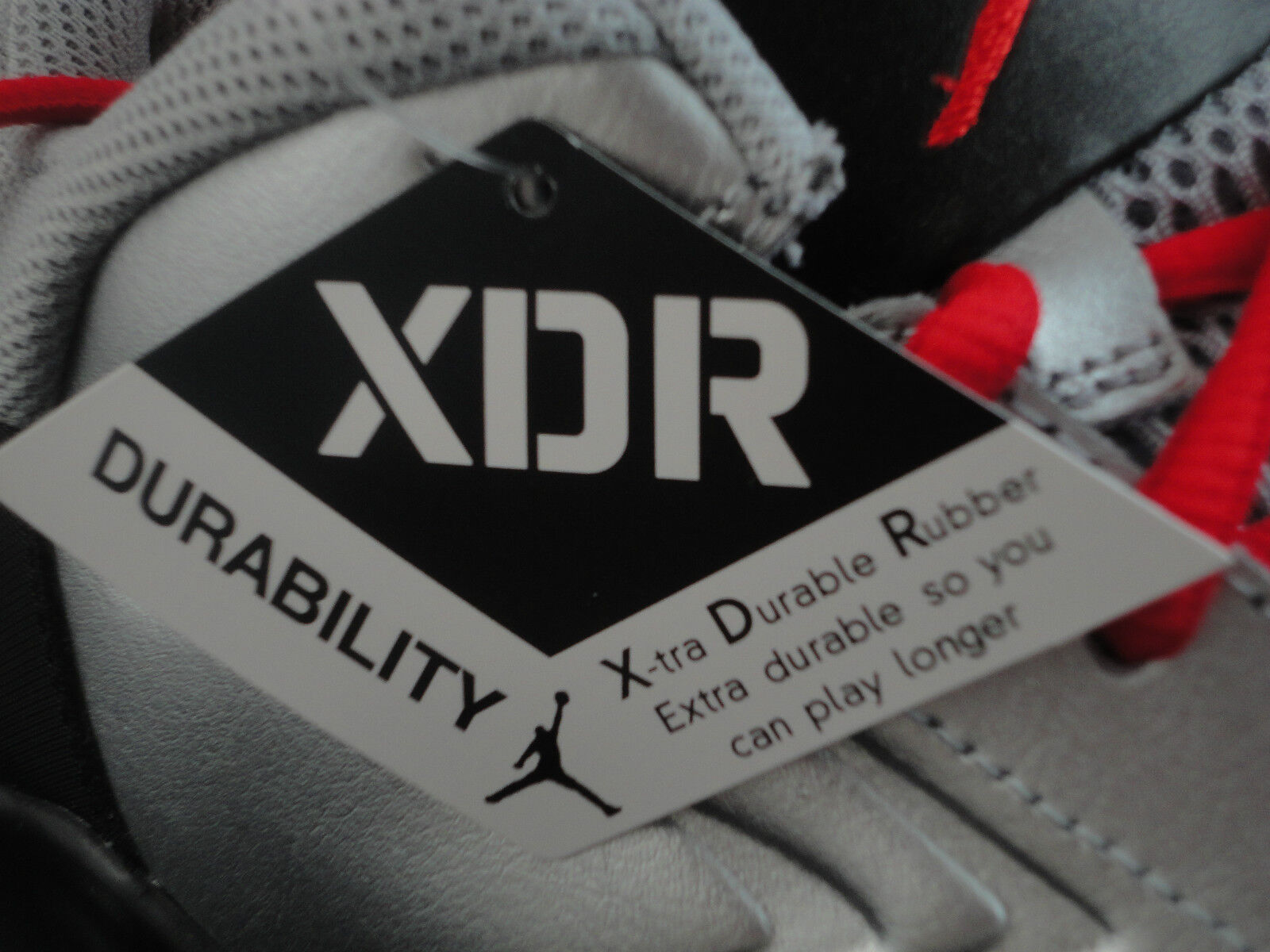 Nike Jordan Ace 23, XDR Size 12.5 Kilroy color Metallic Silver Challenge Red Blk