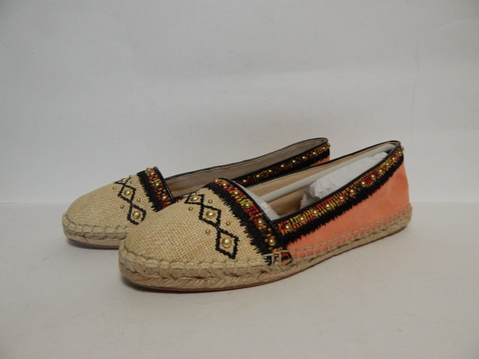 House of Harrow Kat Slip On Espadrille Flat 8 M Pink Coral  New with Box