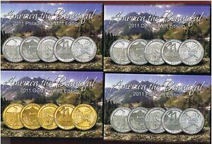 2011-P-D-Gold-Platinum-America-the-Beautiful-Quarters-BU