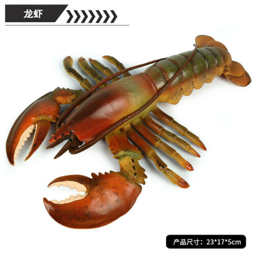 Boston lobster Crab Squid Figure Ocean Animal Model Toy Collector Decor Kid Gift