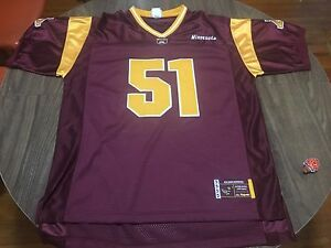 half off 3db9a 2e2f1 Details about Minnesota Golden Gophers Large Football Jersey NCAA Majestic  51
