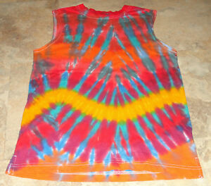 c85f464811d92 Details about New Youth Kids Tie dye dyed hippie Boys Muscle Tee Tank  sleeveless Tshirt 10/12