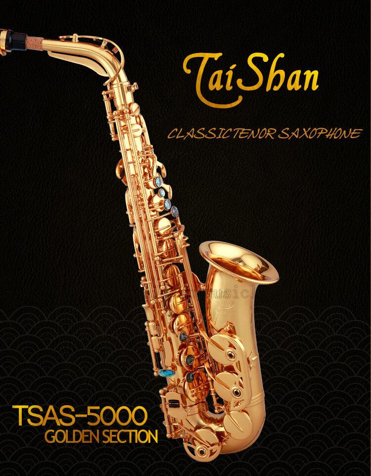 Professional TaiShan 5000 Alto Eb Saxophone Abalone gold Sax Engraving Bell NEW