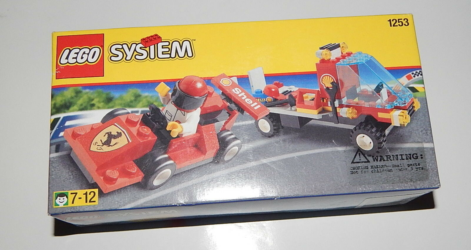LEGO System 1253 Shell Ferrari Race Car Car Car and Transporter NEW In Box, Sealed 8d2c05