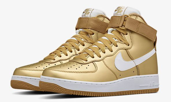 Nike Air Force 1 High Metallic Gold 823297-700 NikeLab Exclusive 100%AUTHENTIC