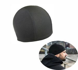Moisture Wicking Cooling Skull Cap Inner Liner Helmet Beanie Dome Cap Sweatband~