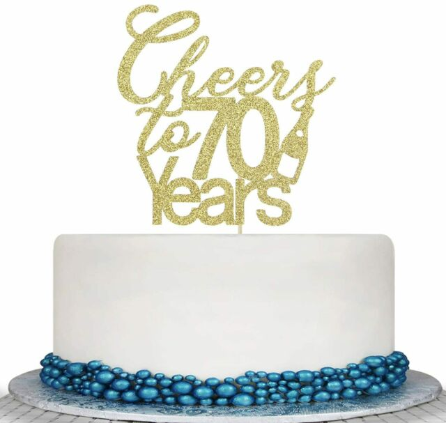 Amazing Cheers To 40 Years Cake Topper 40Th Birthday 40Th Wedding Funny Birthday Cards Online Aboleapandamsfinfo