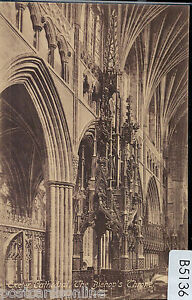 B5136cgt-UK-Exeter-Cathedral-The-Biishops-Throne-Worths-vintage-postcard