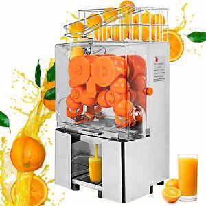 Commercial Electric Orange Squeezer Juice Fruit Maker Juicer Press Auto Feed