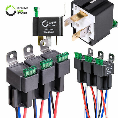 New 12V 40//30A SPDT Relay Switch Harness Set 5-Pin 12 AWG Hot Wires Waterproof