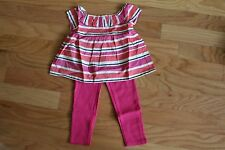 NWT Gymboree Caio Puppy Pink Striped Swing Top~Hot PInk Ponte Pants 2 2T