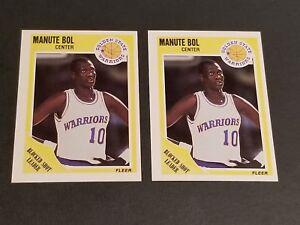 410408419eb6 2-1989-90 FLEER BASKETBALL  52 MANUTE BOL GOLDEN STATE WARRIORS NR ...