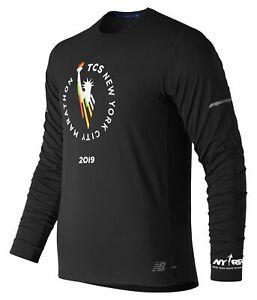 New-Balance-Men-039-s-2019-NYC-Marathon-NB-Ice-2-0-Long-Sleeve-Black