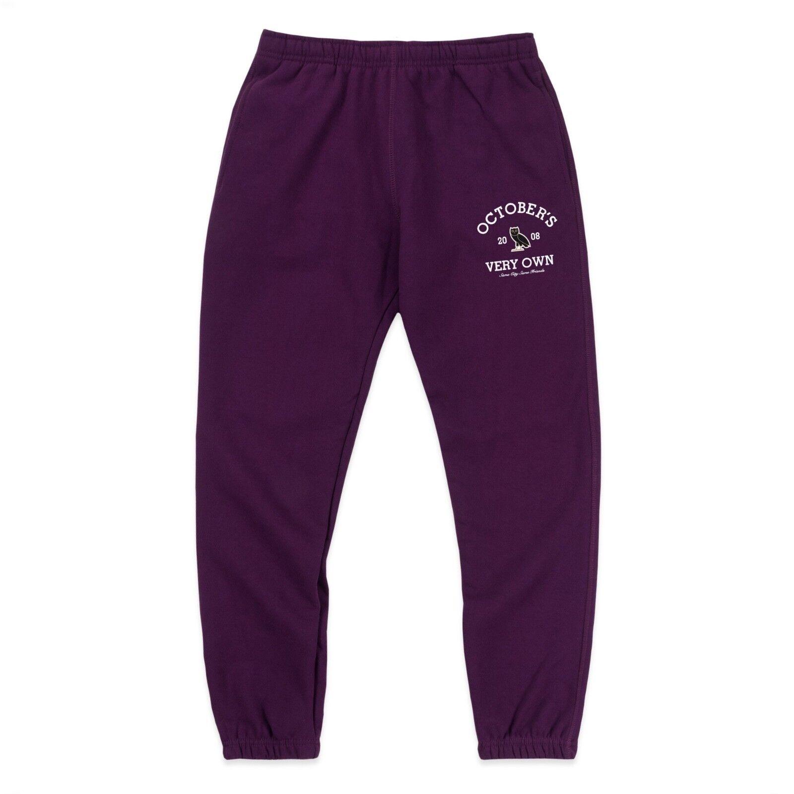 BRAND NEW October's Very Own OVO Collegiate Sweatpants Purple LARGE Drake