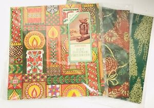 VINTAGE-HALLMARK-REVERSE-A-WRAP-CHRISTMAS-WRAPPING-CANDLES-ANGLES-PLUS