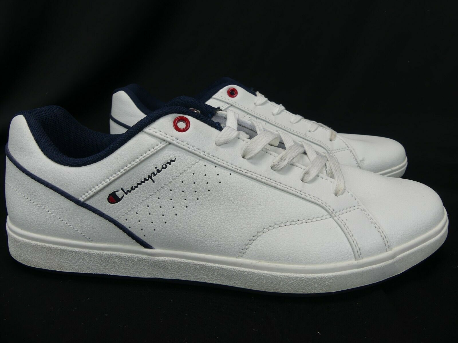 9fd2fd341c7ed NOS - Champion Ace Court White Leather Tennis shoes 11.5 Man Made Upper  168007
