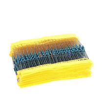 1/4w Resistance 1 Metal Film Resistor Bag 20 Kinds Each 20 Total 400pcs Top