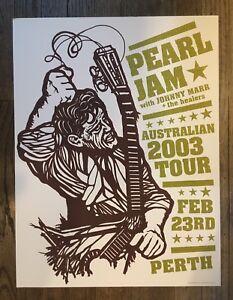 PEARL-JAM-POSTER-2-23-2003-TOUR-AMES-BROS-PERTH-AUSTRALIA-EDDIE-VEDDER