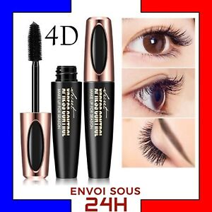 Mascara-Cils-Maquillage-Fibre-de-Soie-4D-Naturel-3D-long-cils-silk-sechage-rapid