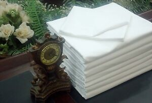 25 HOTEL BED SHEETS'S PILLOW CASES COVERS T-180 STANDARD SIZE FOR RESORTS MOTELS