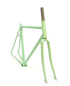 MURPHY-58CM-FIXED-GEAR-CRO-MO-BICYCLE-FRAME-amp-NEW-LUGGED-FORK-SHIPS-FREE-USA