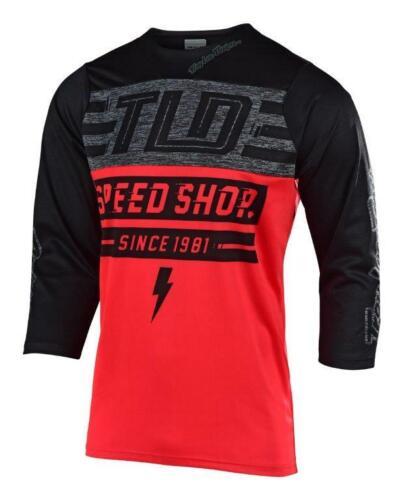 Troy Lee Designs 2019 Ruckus Bolt Jersey Rouge//Noir Tous les hommes Tailles